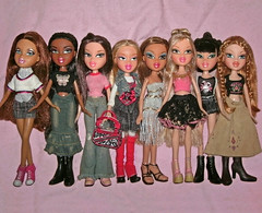 Line-up of new faces.... (skipscales) Tags: fashion doll dolls dana jade sasha yasmin bratz cloe nevra sorya