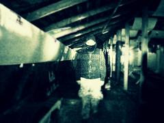 IMG_2676_Fotor (petri.solja) Tags: man reflection ghost figure mysterious attic mies heijastus hahmo kummitus ullakko