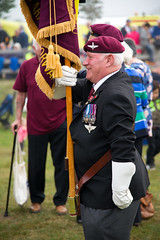 Proud veteran of the Staffordshire Regiment #Margetgarden2014 #Airborne_2014