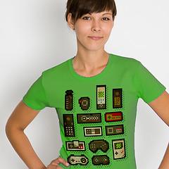 Pixelcontrol (www.lowrez.de) Tags: nerd tshirt atari pixel pixelart nes controller gameboy console snes pcengine vectrex famicon microvision