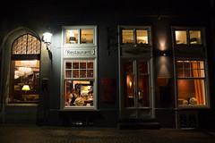 Eating out (paul indigo) Tags: travel light tourism architecture night belgium brugge atmosphere historic restuarant paulindigo streetphotographystreetphotography