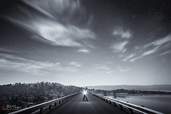 The Dark Road (Bill Thoo) Tags: burrendong lakeburrendong burrendongdam nsw australia dam lake road light explorer night landscape nightscape monochrome blackandwhite sony a7rii samyang 14mm