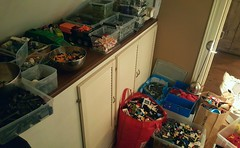 For those wondering why there's this flat line of 0 activity lately ..this is why. So much fun right T_T  Droneuary..Febrovery.. c u next year (Brixnspace) Tags: lego sorting bags andbags