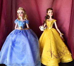 Tea Party with Ella and Belle (Richard Zimmons) Tags: limited edition doll disney store barbie emma watson lily james ella cinderella beautyandthebeast le