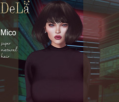 """=DeLa*= new hair """"Mico"""" (=DeLa*=) Tags: dela hair fitted rigged mesh materials secondlife secondlifefashion new sl style slhair uber"""