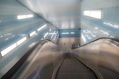 light at the end of the tunnel (Rasande Tyskar) Tags: hamburg metro underground train public transport ubahn überseequartier hafen city light tunnel entrance subway