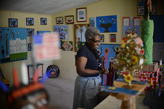 MaMa Girl (Virginia Humanities) Tags: sculpture usa religious paint artist outsider va painter africanamerican artbrut papermache outsiderartist