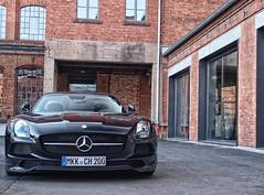 Mercedes SLS AMG Black Series (LooP- Photography) Tags: auto black car germany mercedes hessen frankfurt main olympus spot 420 e series rare spotting sls amg kreis 2014 kinzig klassikstadt