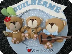 Guirlandas para maternidade (carambola arte em feltro) Tags: felt guirlanda bebê feltro urso mdf nascimento gêmeos portamaternidade quadromaternidade ursoemfeltro nomedobebê guirlandaemfeltro