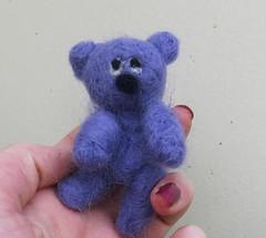 needle felted bear for blythe doll