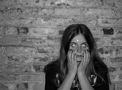 inner self (clairesdreams) Tags: girls summer vacation blackandwhite woman usa white black color art love girl smile animals architecture night canon dark hair photography star weird photo scary eyes women sticker day different nirvana garage grunge stickers teen teenager devil grungey