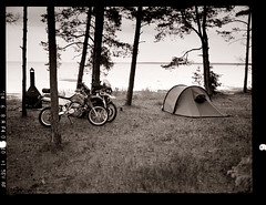 After hard day (tsiklonaut) Tags: travel camping wild camp white black art 120 film blanco analog landscape outdoors island 645 estonia fuji ride offroad drum scanner negro scan adventure trail riding experience 400 motorcycle roll fujifilm medium format 100 suzuki analogue gs analogica chs hiiumaa eesti discover drz ga645 saaremaa drumscan analoog pmt adox ga645i r1100gs photomultipliertube motomatk