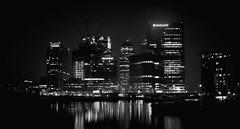 Canary Wharf at Night (mediumformatshop) Tags: london skyline night skyscrapers wharf canary canarywharf bigcity canarywharfatnight cityskyline londonskyline financebuilding financialcapital