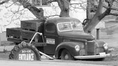Old truck (bradlebedoff) Tags: white canada black truck canon britishcolumbia okanagan orchard summerland 70200 70d
