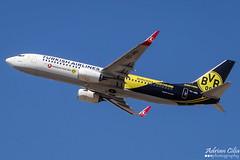 Turkish Airlines --- Boeing B737-800 --- TC-JHU (Drinu C) Tags: plane aircraft sony special boeing dsc turkish 737 mla borussiadortmund turkishairlines lmml hx100v adrianciliaphotography tcjhu