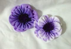 DSCF1385 (EruwaedhielElleth) Tags: flower hair japanese pin handmade decorative seasonal craft clip maiko ornament fabric hana geisha tsumami accesory kanzashi zaiku