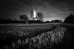 Saxtead Green (Justin Minns) Tags: saxsteadgreen windmill web sunrise flickr jmm0117 fpsm mono saxsteadgrees suffolk fb saxtead green
