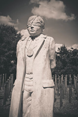 Herbert Burden (n.clamp) Tags: sculpture memorial war arboretum ww1 herbert burden alrewas nationalmemorialarboretum shotatdawn
