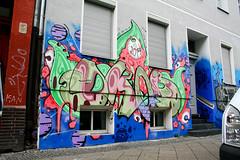 Left (AgeAge) Tags: blue red berlin face wall project kreuzberg shoe graffiti eyes colours painted heads styles colourful grab 36 wallpainting aa spraycan caropepe 2014 crackhead bluebackground characterdesign charakter streetstyle berlinkreuzberg steelisreal tentakel stylewriting ageage wrangelstrase wrangekiez krzbbrg