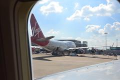 VS 747 at LHR (Simon_sees) Tags: travel vacation holiday london plane airplane airport ramp heathrow aircraft jet terminal virgin passenger vs boeing 747 virginatlantic