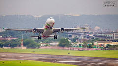 EVA AIR A330-300 (B-16332) Hello Kitty livery Sungshan (RCSS/TSA) Departure (Bag1024) Tags: hello eva air kitty tsa departure livery a330300 rcss sungshan b16332