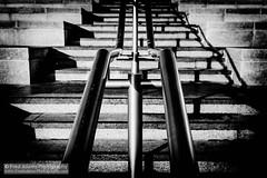 On the Rails (Fred-Adams) Tags: london concrete canal steel steps rails kingscross minimalist