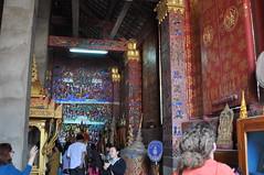 Ornate interior of the subsidiary shrine (oldandsolo) Tags: southeastasia buddhism lp laos wat buddhisttemple luangprabang chedi watxiengthong buddhistart buddhistshrine laopdr buddhistarchitecture unescoworldheritagecity buddhistreligion buddhistfaith funerarycarriage royalhearse