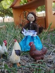 Miniature farmers wife doll 3 (wildflowertoys) Tags: woodentoys dollhousedolls toybarn bendydoll naturaltoys waldorftoys elvesandangels dollhousefamily toystable wildflowerinnocence