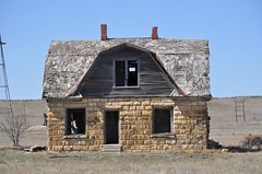 Old Abandoned Farmstead (Sasquatchphotos) Tags: wood old house abandoned rural plaster nails limestone decaying