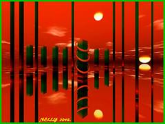 *SUMMER FULLMOON!* (MONKEY50) Tags: orange abstract colour green art colors digital psp bryce hypothetical musictomyeyes autofocus flickraward