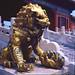 后宫门口的铜狮子