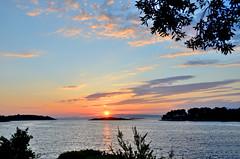 Pomema, zonsondergang, Mljet Kroati juni 2014 (wally nelemans) Tags: sunset zonsondergang croatia hrvatska 2014 mljet kroati pomena