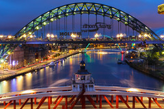 Tyne (joanne.schuler) Tags: bridge light water night river newcastle lights long exposure great north millenium run sage tyne gateshead quayside