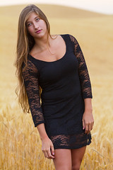 Caitlyn (austinspace) Tags: sunset portrait woman storm field washington model spokane dusk farm wheat cheney