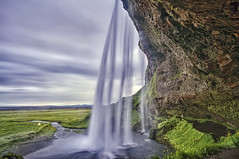Behind Seljalandsfoss (Daniel Schwabe) Tags: mountain waterfall iceland cave seljalandsfoss