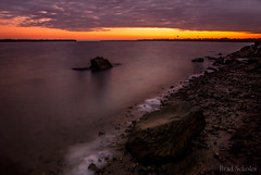 Blind Bight (brad.scholes) Tags: longexposure sky seascape color colour water sunrise landscape nikon skies waterfront f22 foreground westernport d80