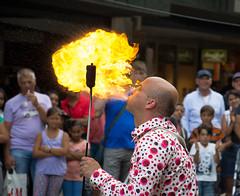 hot breath (stevefge) Tags: fireeater rotterdamstreetstreetartist
