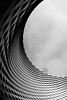 Excellence in geometry: Messe Basel (Nekr0n) Tags: street leica city sky urban blackandwhite bw monochrome architecture modern digital schweiz switzerland design blackwhite strasse streetphotography himmel x basel stadt streetphoto 24 28 24mm hightech schwarzweiss messe asph f28 x1 compactcamera xseries elmarit primelens strase leicax1gallery