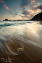 Sunset (Mario Navarro E) Tags: sunset sea sky beach nature water beautiful atardecer nikon awesome sigma playa murcia cielo nubes olas amarilla guilas d7000