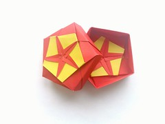 Pentagonal box  Tomoko Fuse (Vladimir Phrolov) Tags: origami box unit modularorigami tomokofuse origamibox pentagonal