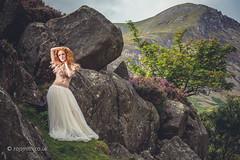 Heather, Rocks and Feathers (Roj) Tags: uk woman mountain green wales landscape model rocks heather ogwen ivoryflame canon5dmkii canonef70200mmf28isiiusm originalphotographer photographersontumblr