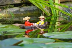 A romantic afternoon (David B. - just passed the 7 million views. Thanks) Tags: france water closeup garden toy toys boat pond sony lilly rowing romantic lillies waterlillies playmobil proxy a77 70300 tarnetgaronne moissac midipyrénées 70300g sony70300gssm a77v sonyalpha77 sonydslta77v