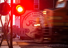 Faster than a Locomotive (Justin Barr Photography) Tags: ford train lights crossing