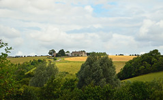 Landscape with farm, fields and clouds (Monceau) Tags: clouds landscape fields paysage far