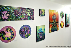 Chelsea Rose Arts at Future Shock PDX (lucidRose) Tags: art gallery alien goddess surreal faery pdx mutant psychedelic portlandoregon whimsical thirdeye lucidrose chelsearosearts futureshockpdx
