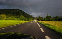 ab zum Ende des Regenbogens (Omega-Matze) Tags: road street sun rain rainbow regenbogen flickrchallengegroup flickrchallengewinner