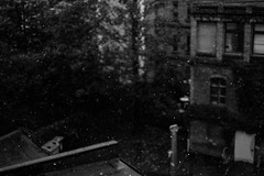 Heavy Rain (Simson_Petrol) Tags: city autumn urban berlin fall rain 35mm germany dark xpro lowlight backyard europe fuji 14 slide slidefilm rainy freeze fujifilm heavy fujinon outofthewindow griity xpro1 vsco fujixpro fujinon35mm vscofilm vsco04