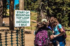 Starting to Hike Mountain Top Loop