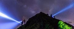 Light up the sky (JIMI_lin) Tags: star taiwan explore flashlight milkyway    hehuanmountain