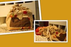 Saco de po (ceciliamezzomo) Tags: chicken bread galinha handmade country patchwork hen saco po galo gallina galinhas